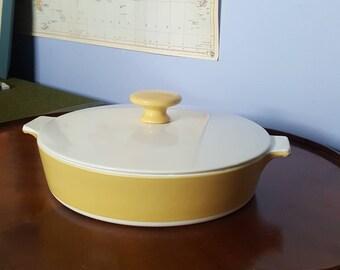 Vintage Corning Ware Yellow Casserole Dish