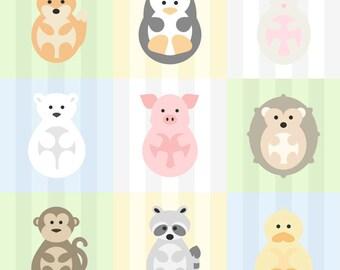"FOX Animal Print for Nursery/Kids Room - 8""x8"" Instant Digital Download"