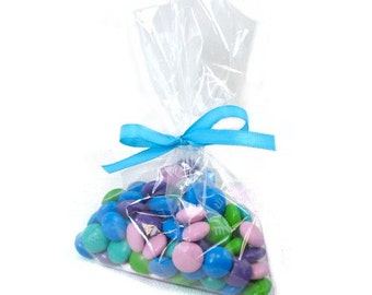 "Clear Polypropylene 'Cellophane' Favor Treat Candy Bags 4 x 6"""