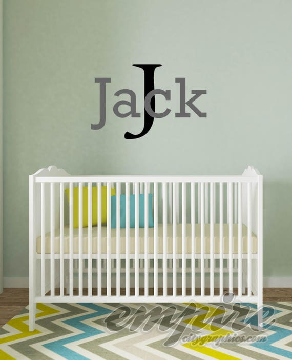 Boys Name Wall Decal, Boys Monogram decals, Boys decor, Boys custom name