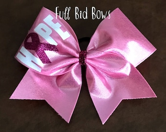 Cheer Bow - Breast Cancer Hope Bow