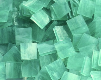 Sea Green Opal Stained Glass Mosaic Tiles