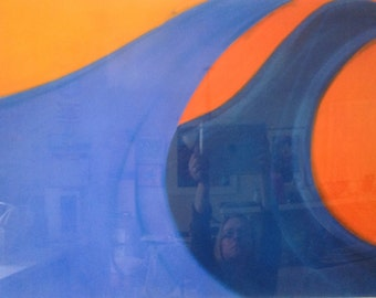 Waved-Original Art, Pastel Drawing, Medium, abstract paintings, colorful, large wall art, wall decor, home decor.