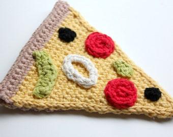 Amigurumi pizza slice, crochet pizza, crochet play food, eco-friendly