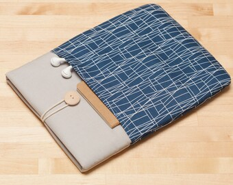 Macbook pro sleeve 13 inch case / Laptop case  / Macbook air 13 sleeve / Custom Laptop sleeve / Lenovo yoga sleeve - Web navy