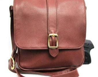 Handmade Multi Compartment Concealed Carry Handbag.