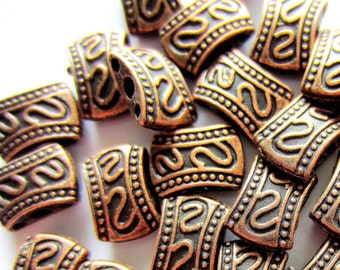 25 Spacer beads antique copper multi stand spacer 8mm 10mm