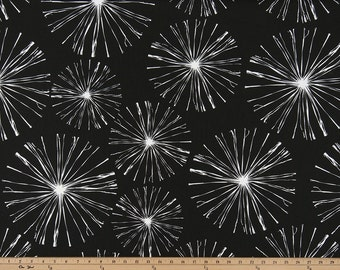 "Premier Prints Fabric Sparks Black Home Decorator 54"" Wide Fabric 7 oz 100% Fireworks Cotton Fabric by the Yard"