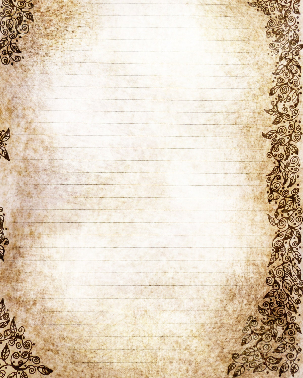 parchment writing paper with lines