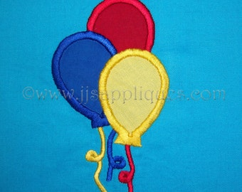 Instant Download - Birthday Special Occasion Balloons Embroidery Applique Design - Three Balloons 4x4, 5x7, 6x10 hoops