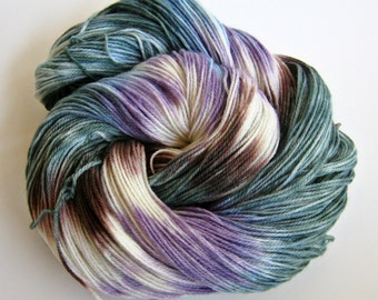 AZUREMYST ISLE inspired Superwash Merino hand dyed yarn