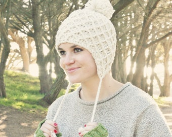 Crochet Ear Flap Hat Pattern, Crochet Pom Pom Hat Pattern, Hat Crochet Pattern Hat, Womens Hat Pattern, Fall Fashion, Womens Winter Fashion