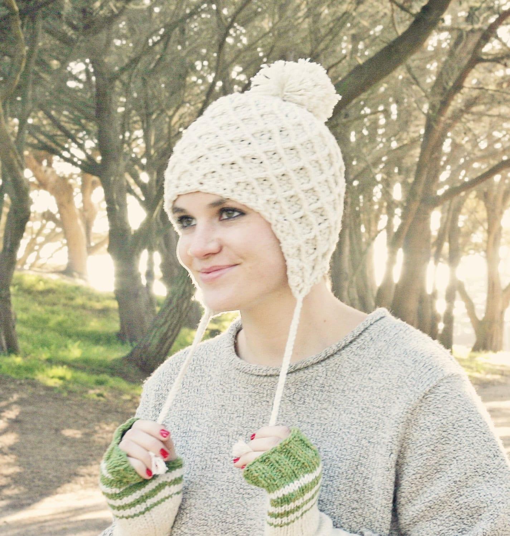 Crochet ear flap hat pattern crochet pom pom hat pattern hat zoom dt1010fo