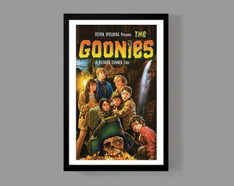 The Goonies Movie Poster - Never Say Die Print - Cult Classic Teen Drama Film 80's