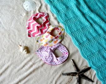 Baby bib set. Baby Girl bandana bibs. Baby Accessories. Baby Bandana Bib. Bib 3 Pack. Pineapple Bib. Tropical Baby Bib. Hawaii Baby Accesori