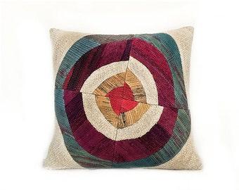 20''x20'' Bead Patchwork Kilim Pillow Cover Decorative Pillows Cushion Cover Ethnic pillow Tribal Pillow Floor Pillow Throw Pillow Accent