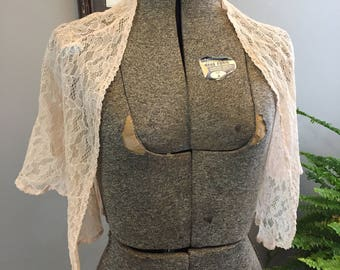 1940's Lace Bed Jacket