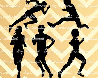 5 runners SVG cut files, running SVG files, runner bundle, Cricut Explore, Cuttable Vector file, Iron on file, Vinyl svg file