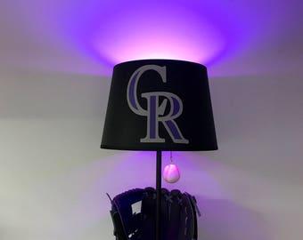 Colorado Rockies Lamp, Rockies Light, Baseball Lamp, Baseball Decor, MLB,  Man