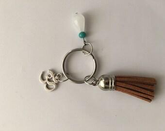Bohiemian keychain, ohm accessories, hippychic keychain