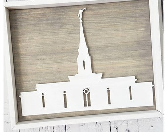 FREE SHIPPING LDS Wood Temple Cutout