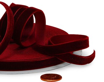 3/8 BURGUNDY VELVET Ribbon