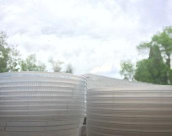 8oz durable airtight containers