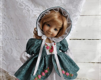 The outfit on the doll Dianna, Effner 13 inches