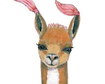 Home Decor, Nursery Decor, Children's Room, Animal Prints, Wall Art, Baby Shower Gift, Llama Print, Animal Art, Nursery Wall Art, Framed Art
