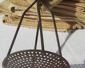 Vintage French Potato Masher Vegetable pulper Kitchen utensil
