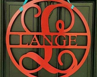 """24"""" Metal Monogram Door Hanger"""