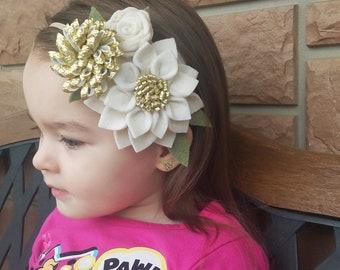 Handmade felt flower crown, flower crown, flower girl crown,