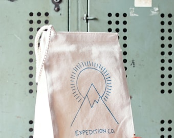 Lunch Box - Lunch Bag - Lunch Tote - Reusable Lunch Bag - Screen Printed Lunch Bag - Eco Friendly - Canvas Tote Bag - Lunch Sack - Outdoors