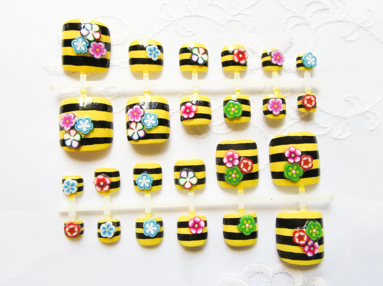 Bumblebee Fake Toenails Toenails False Toenails Press on
