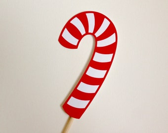 Candy Cane Photo Booth Prop . Peppermint Photo Booth Prop . Candy Cane . Peppermint . Red and White . Christmas . Candy . Party