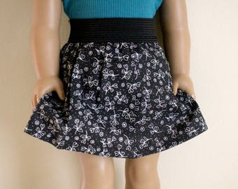 Black and White Skirt for 18 inch dolls; fits American Girl