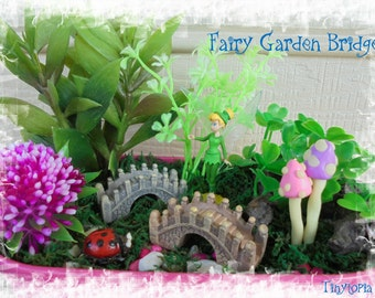 Fairy Garden Terrarium Miniature Bridge