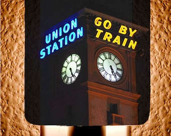 Go by Train Union Station Night Light