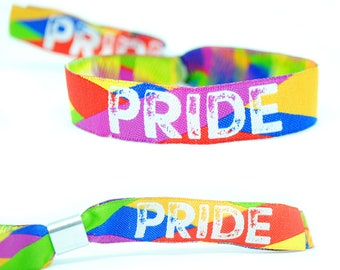 PRIDE Wristbands - Gay Pride Wristbands - Lesbian LBGT Rainbow Pride Accessories / bracelets / festival wristbands