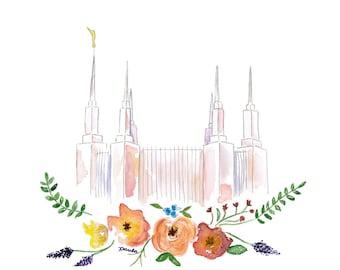 LDS Washington DC Temple Watercolor