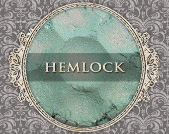 HEMLOCK Shimmer Eye Shadow, Seafoam Green, Red Duochrome Highlight, Loose Powder Eyeshadow, VEGAN Cosmetics, Ships Out in 5-8 Days