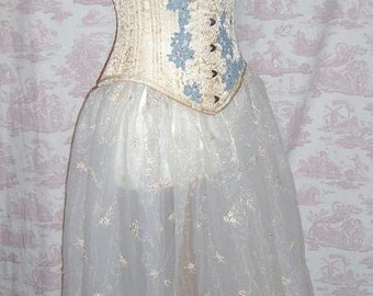 Fairy Fairie Bridal Organza SKIRT  Wedding Lolita GOTH STEAMPUNK By Ophelias Folly