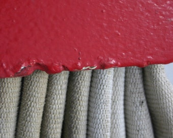 Red and White Rope Hose on a Ferry 5 x 7 Limited Edition Photograph
