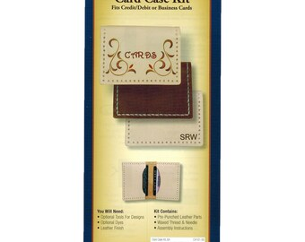Realeather Crafts Leather Card Case Kit C4161-00 Pre-Punched Leather Kit