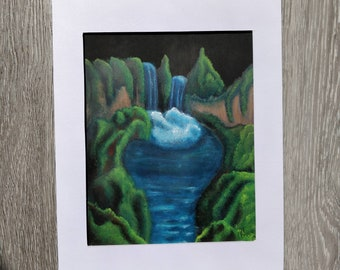 Waterfall Acrylic Painting 04
