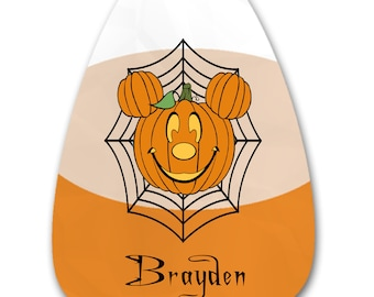 Candy Corn Halloween Mouse Names 1-Digital Clipart-Pumpkins-Gift Tag-Party-CakeTopper-Scrapbook-Jewelry-T-Shirt-gift card.