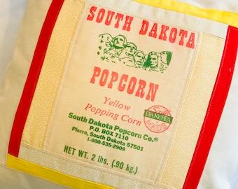 "17"" Vintage Popcorn Bag Pillow Cover"