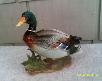 Vintage Ceramic Duck Planter, by Relpo 5264 Mallard, Indoor Duck Planter, Wildlife Planter