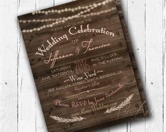 Wedding Invitation - Rustic
