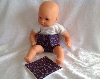 Diaper and wipe liberty doll 30cm
